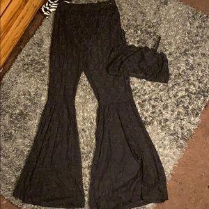 All black bra and pants set